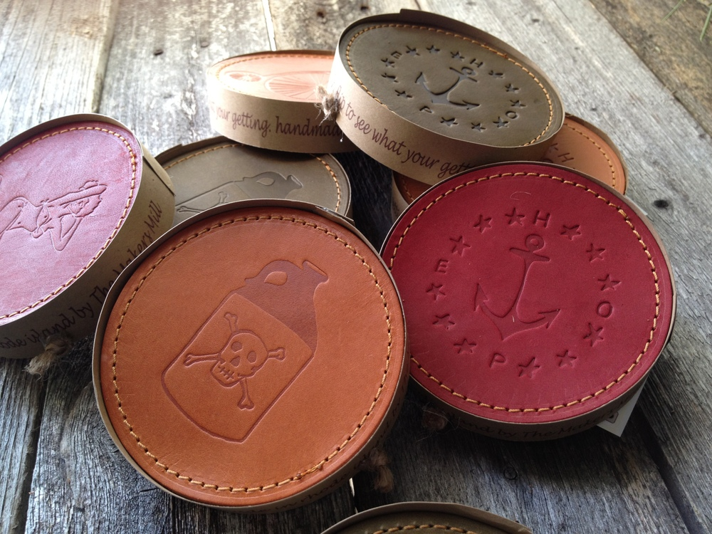 Handmade Leather Coasters The Makers Mill
