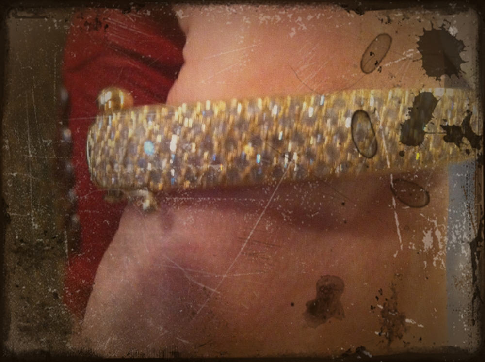 All made of gold and diamonds, I joked with Aurora that this bracelet was coming with me to the Oscars in 2014.