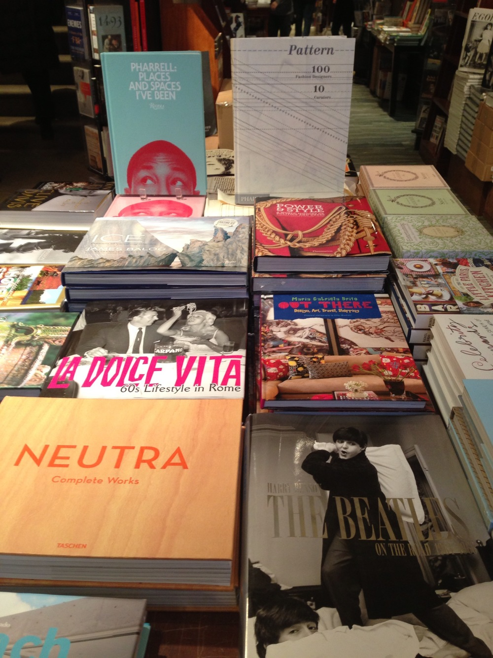 Main table at Rizzoli (first display table upon entering the bookstore)