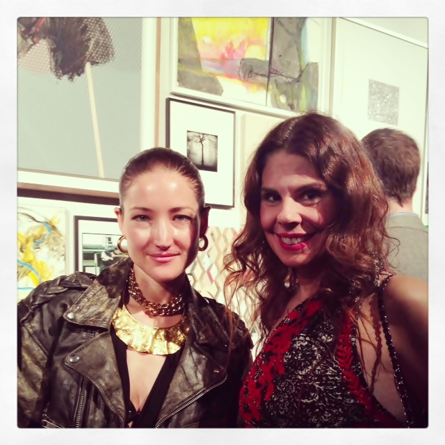 With one of my favorite emerging artists: Andrea Mary Marshall