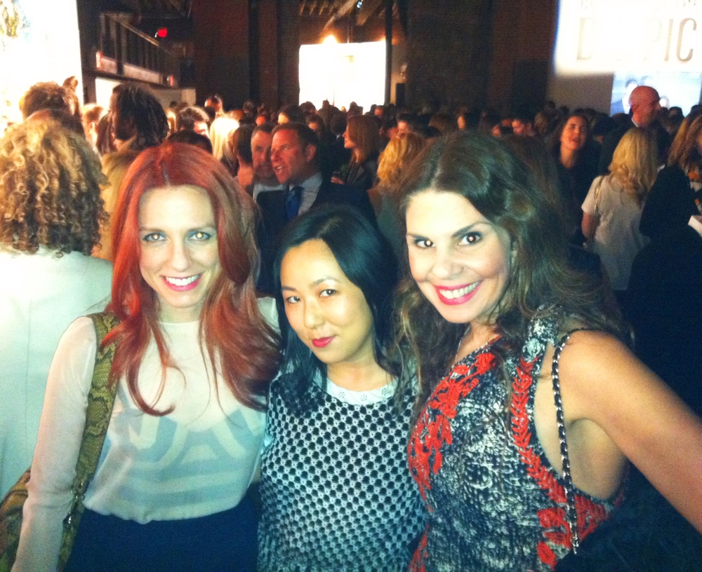 With power girls Jennifer Zuccarini and Celia Chen