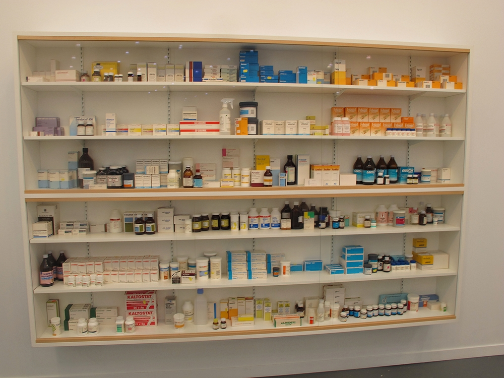 One of Damien Hirst's famous/infamous pharmacy installations with White Cube