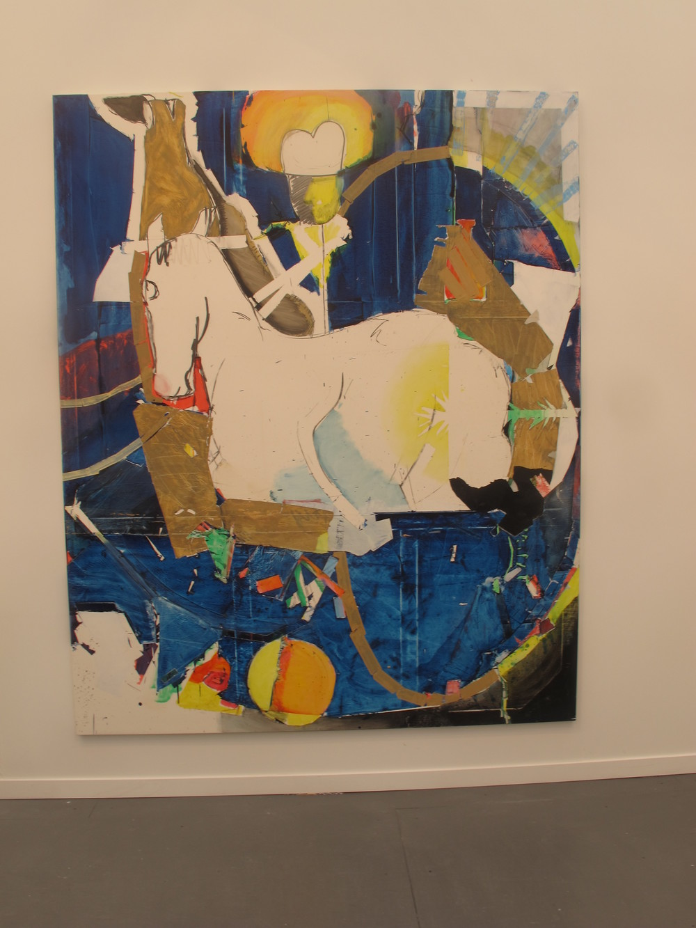 Magnus Plessen horse at White Cube