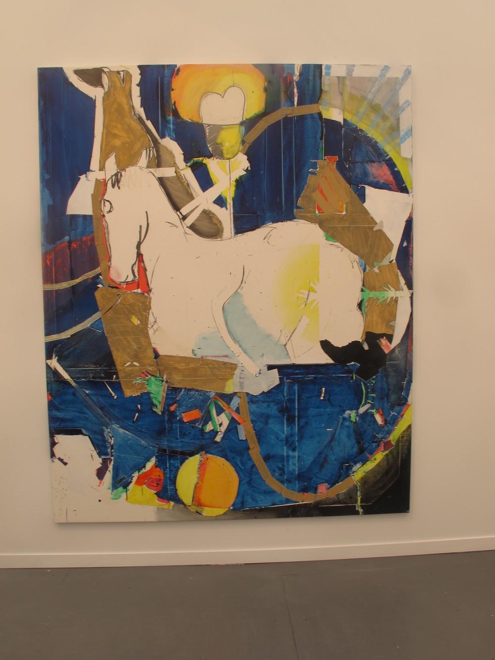 Magnus Plessen horse at White Cube