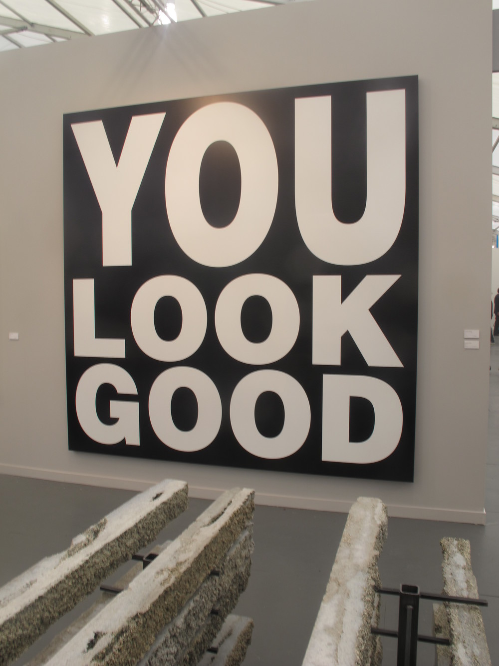 Barbara Kruger's piece was a boost of self-esteem for all the fair's attendants