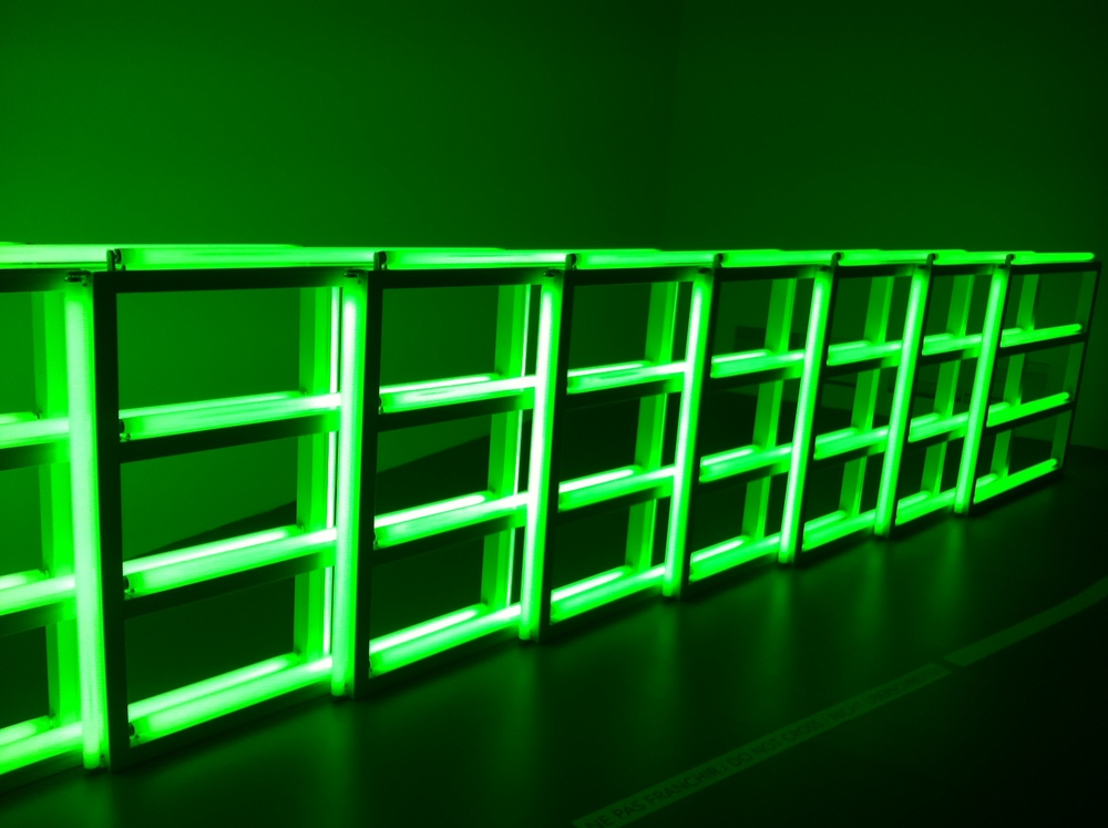 Dan Flavin's piece at Dynamo