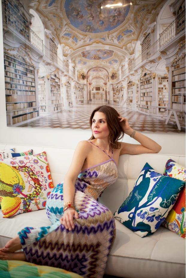 Me at home with ac-print on the back by German photographer Rafael Neff (photo credit Lianna Tarantin)