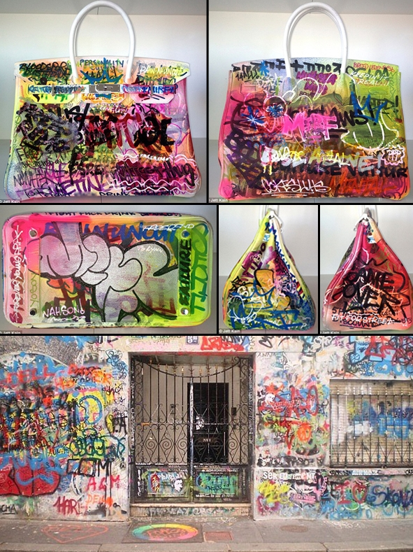 The Birkin that Mint & Serf tagged for Lynn Ban was born out of an idea that Jett Kain (Lynn's husband) had and shared with me.  I was so happy to introduce him to the perfect graffiti artists who matched his vision so well.  Images © Jett Kain