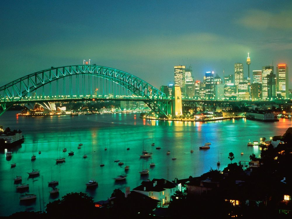 A View of Sidney at night