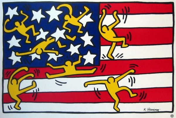 Keith Haring's playful take on the Star-Spangled Banner