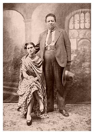 Frida and Diego the day of their marriage