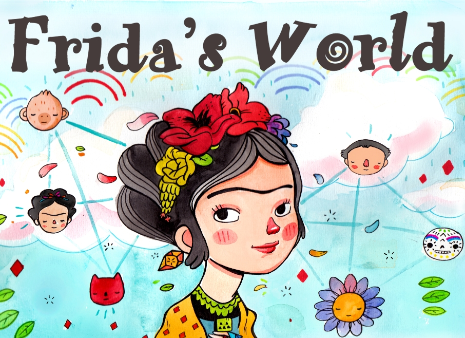 "The cover of the IPhone/IPad App that I designed: ""Frida's World"""