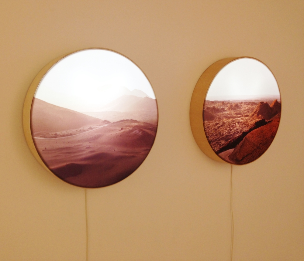 These two round lightboxes were my favorites. They are also by Monica Sanchez-Robles.