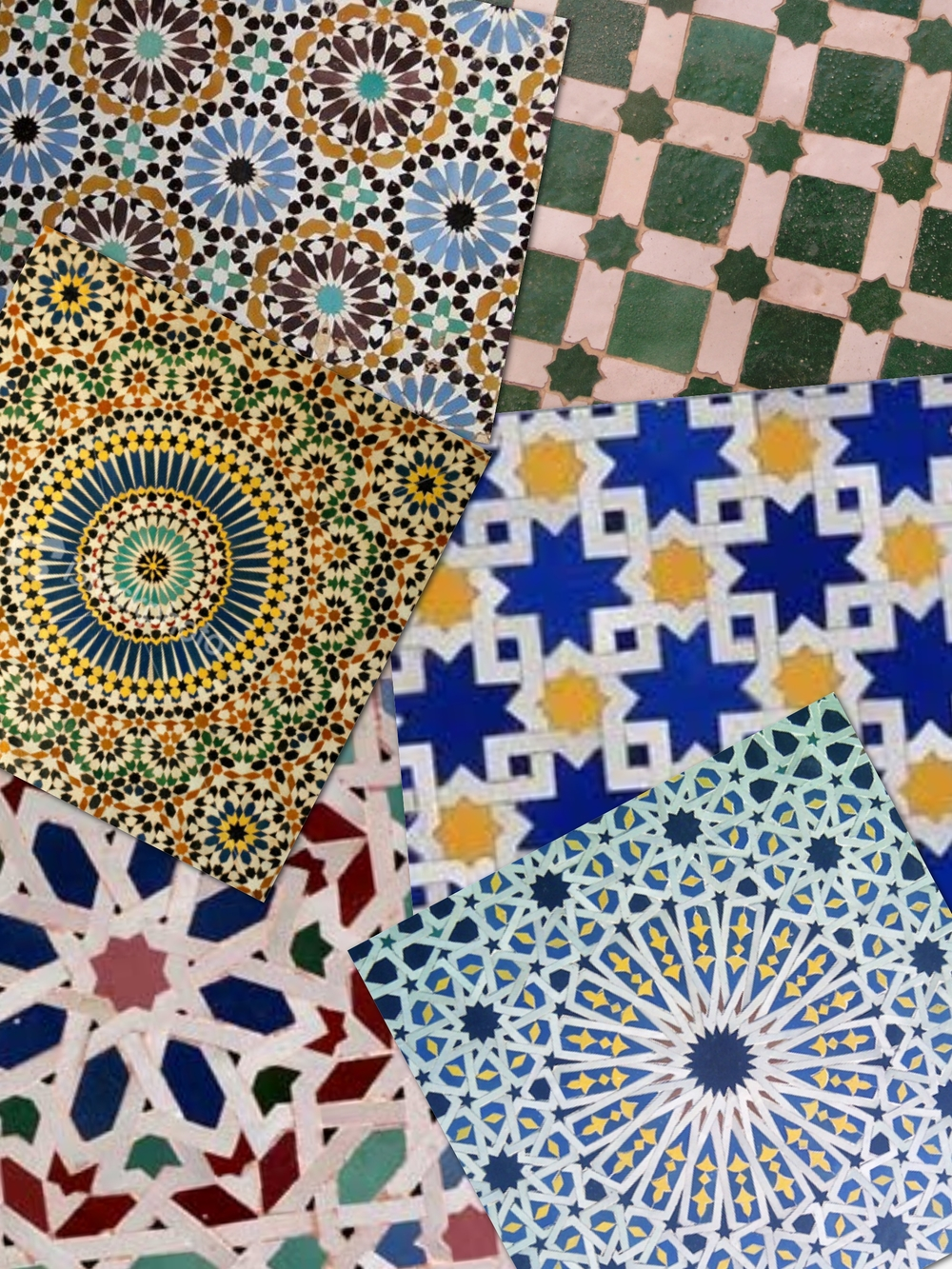 A collage with some of the tiles that I photographed while in Tangier last August
