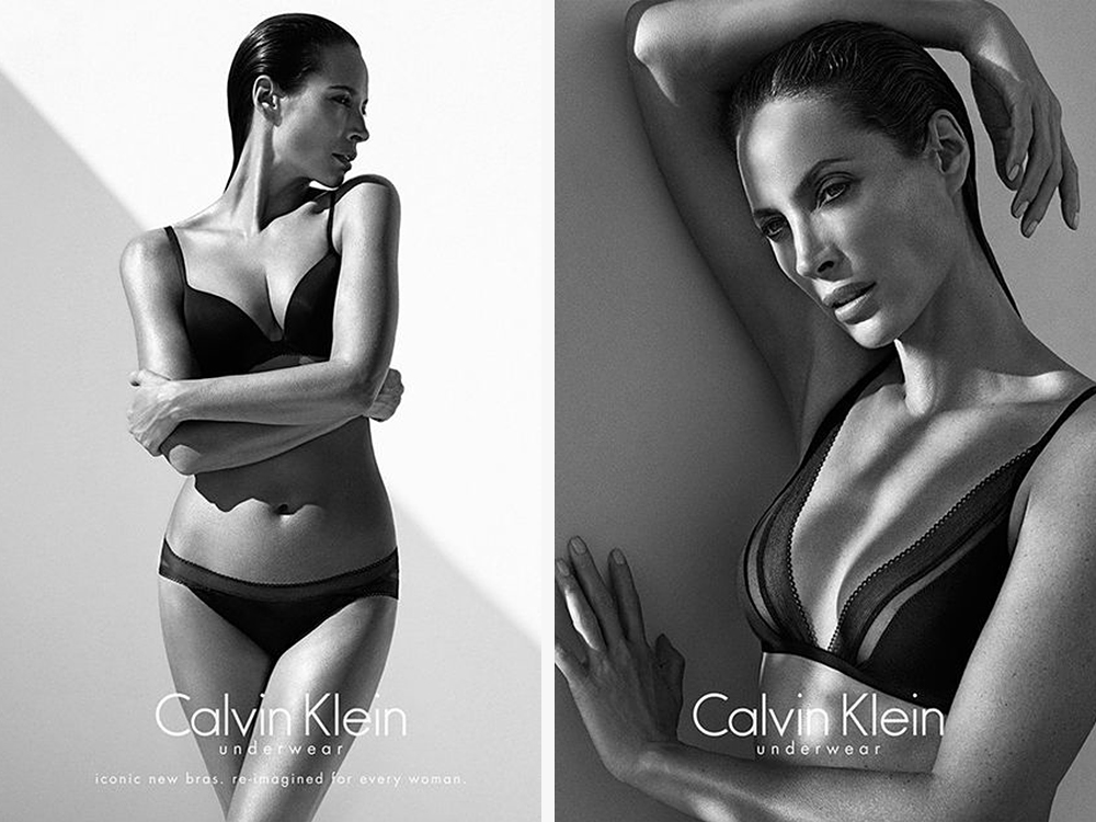 Christy in the 2013 Calvin Klein underwear campaign