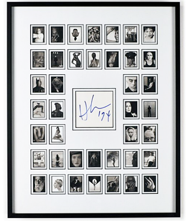 Herb Ritts signed authentic display of some of most iconic photographs including one of Christy, of course.