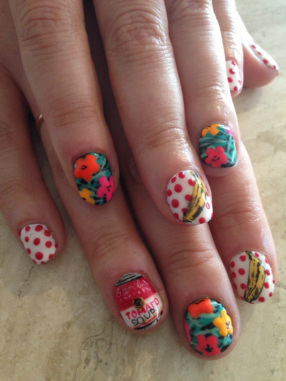 Another manicure they did for someone else with a Warhol theme.