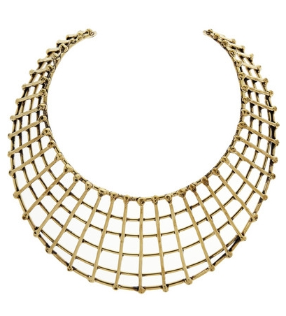 Gold-tone cage necklace