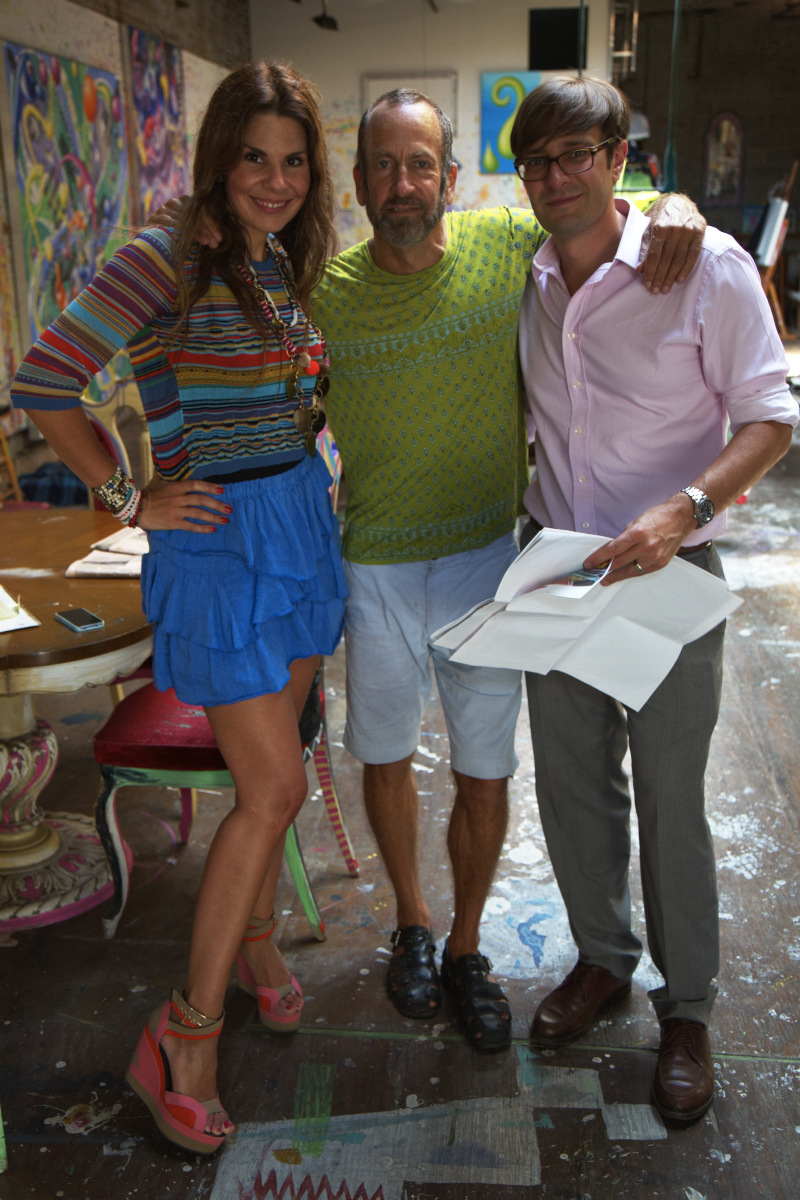 With Nick Olney and Kenny Scharf in his Williamsburg studio.