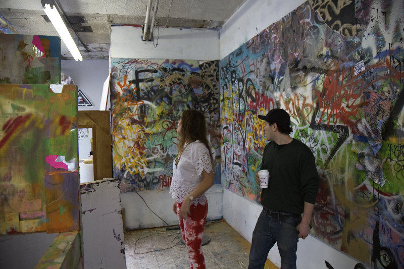 Mint shows me his latest work in the Tribeca studio that he shares with Serf, his longtime art partner