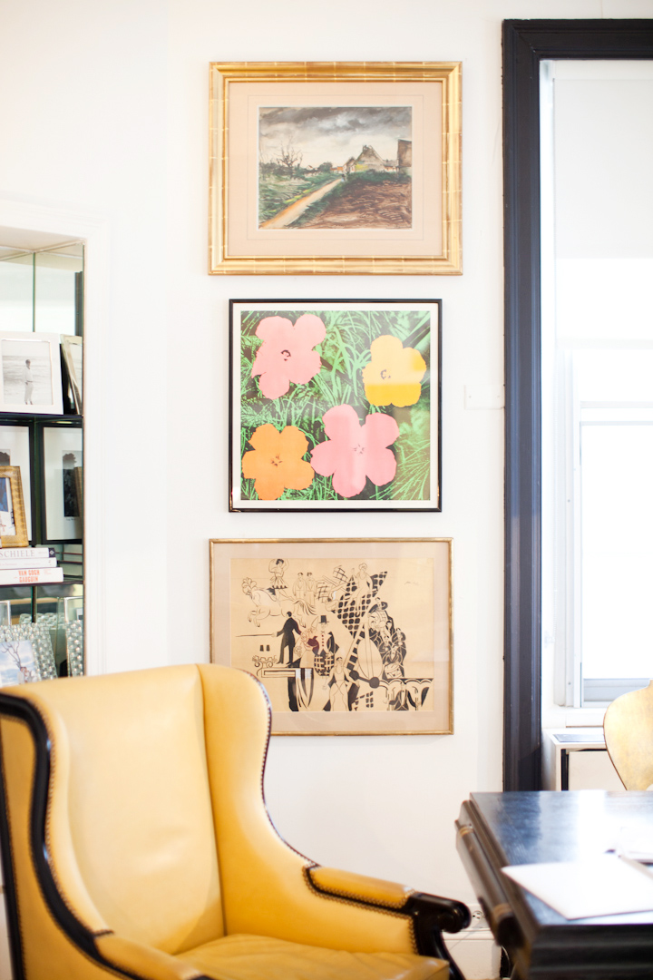 Warhol's Flowers, Dufy's circus and an ocher wingback chair