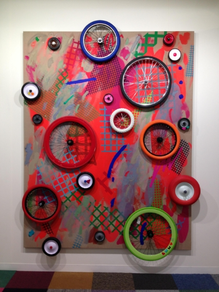 Laura Owens, untitled, shown at Art Basel 2013