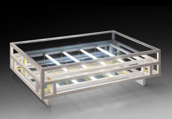 Nathaniel Rackowe, LT01 Minimalist coffee table, kinetic and infinite , 2013