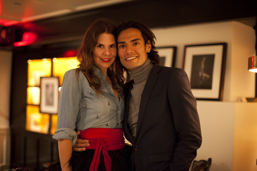 Omar and I in his West 9th Street restaurant and private club.  Photos by Lianna Tarantin