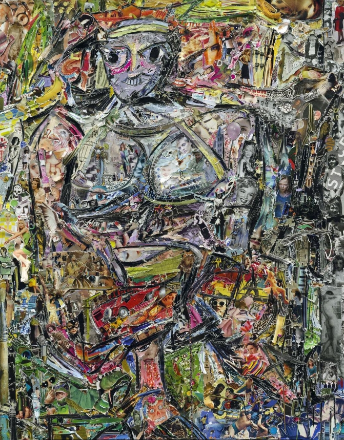 Vik Muniz - Woman I, after De Kooning (Pictures of Magazines 2), 2013 Digital C-Print.  Available at Sikkema Jenkins