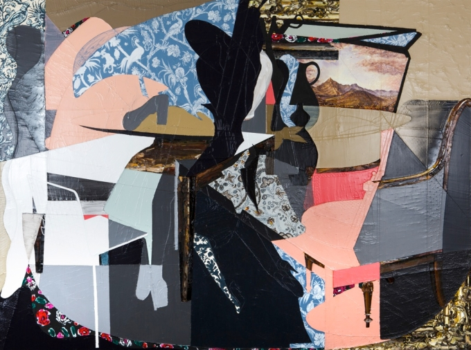 Francesca DiMattio, Toile de Jouei, 2013 mixed media on canvas.  Available at Salon 94