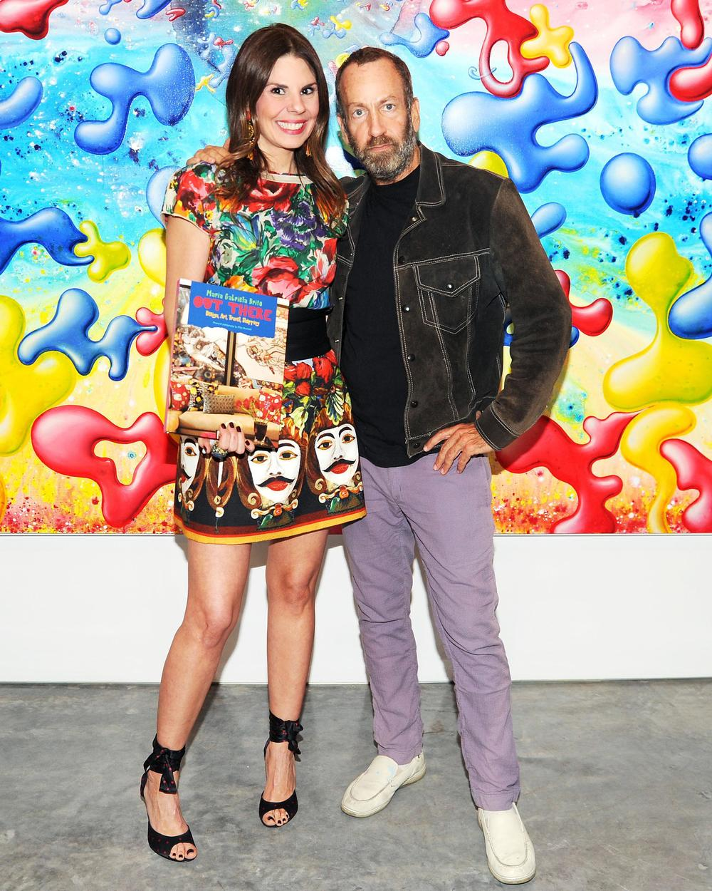Kenny Scharf and I at my book launch at Paul Kasmin Gallery during Kenny's latest solo show