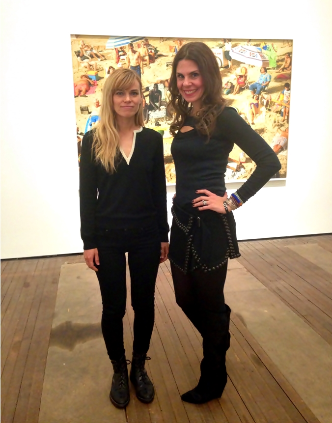 "Alex and I at Lehmann Maupin in her newest solo show ""Face in the Crowd"""