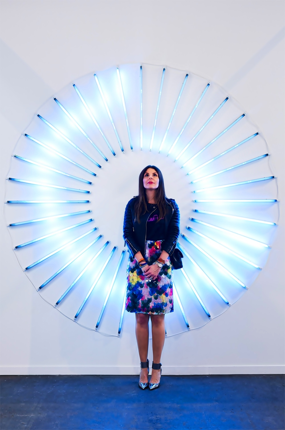 "With James Clar's ""Bitcoin"" sculpture"