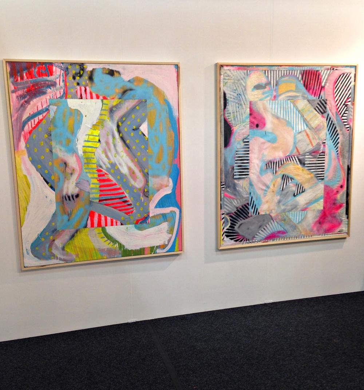 Ezra Johson's canvases