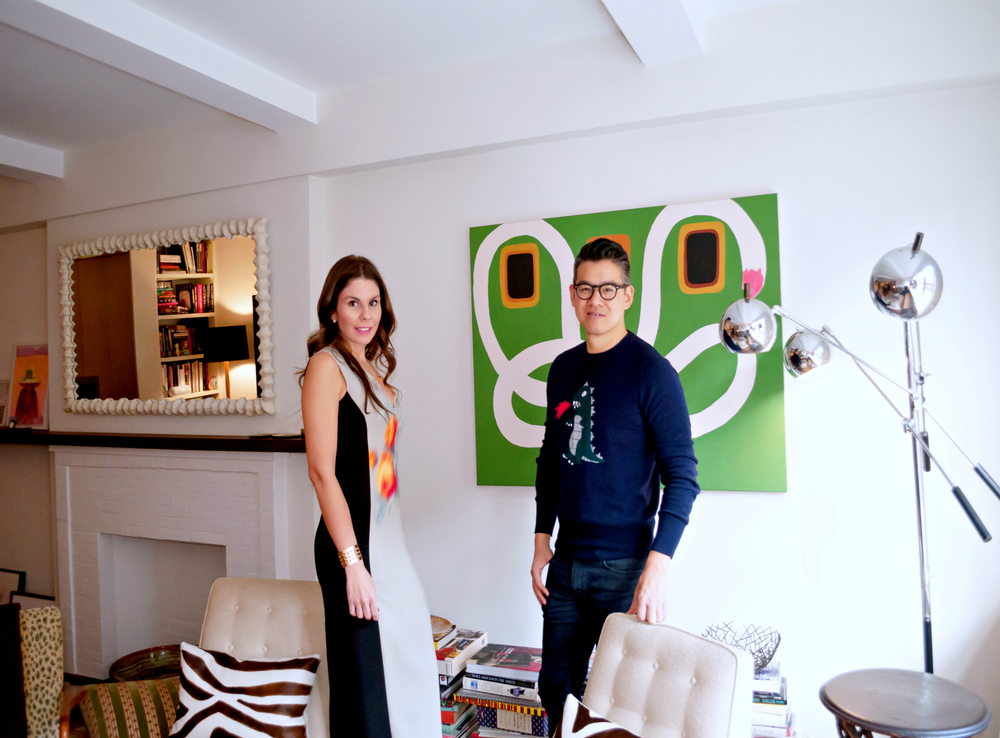 Peter Som and I in his West Village apartment.  I'm wearing Peter Som.  All photos by Peter Koloff.