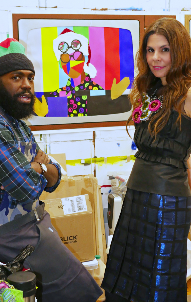 Derrick and I in his Brooklyn Studio.  All pictures by Peter Koloff.