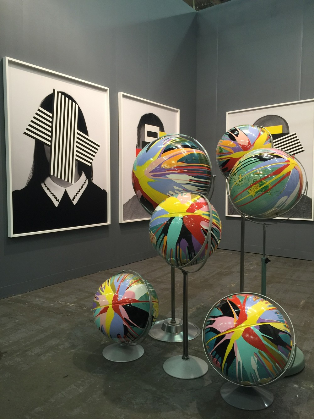 Douglas Coupland's solo booth at Daniel Faria