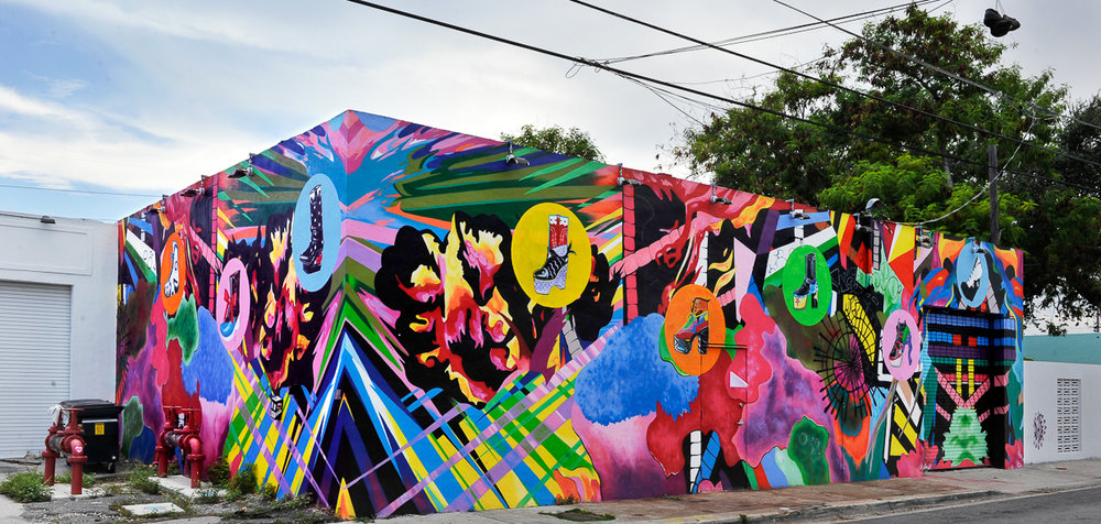 Avaf mural at Wynwood Walls