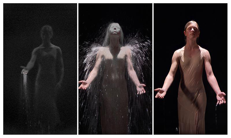 "From Bill Viola's performance ""Inverted Birth"""