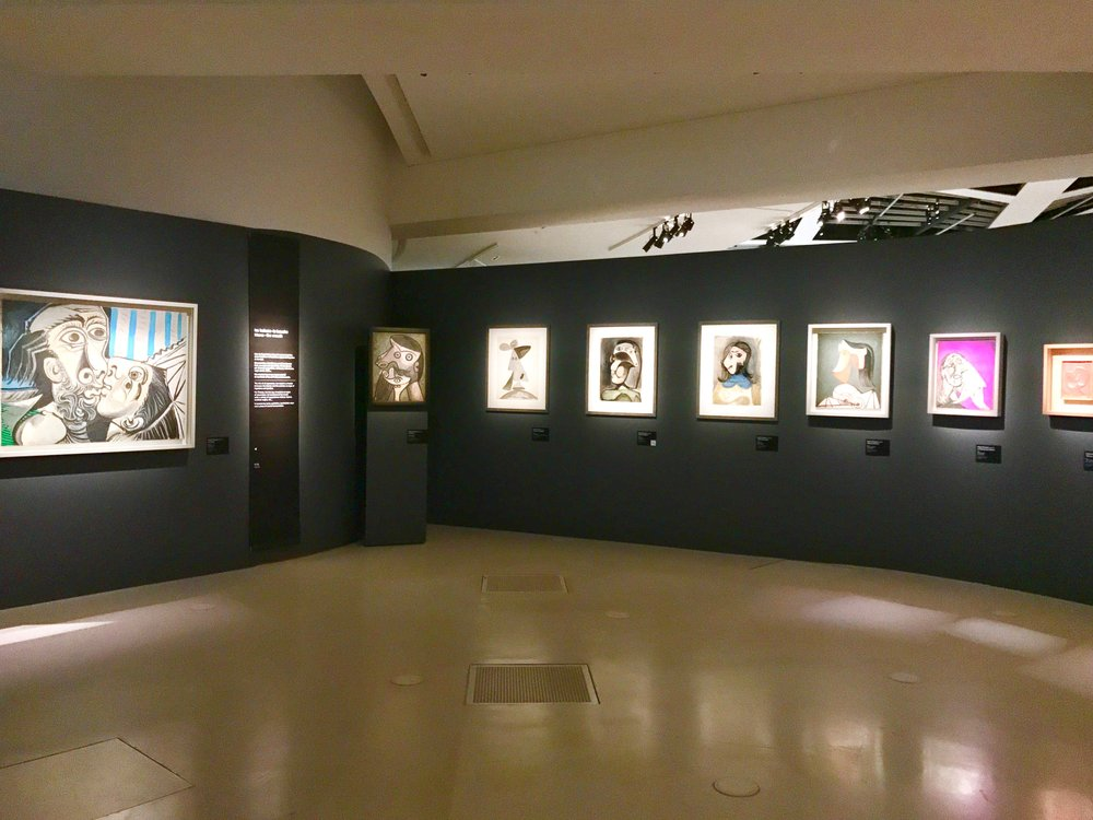 "Pablo Picasso's portraits in the exhibition's ""Id"" section."