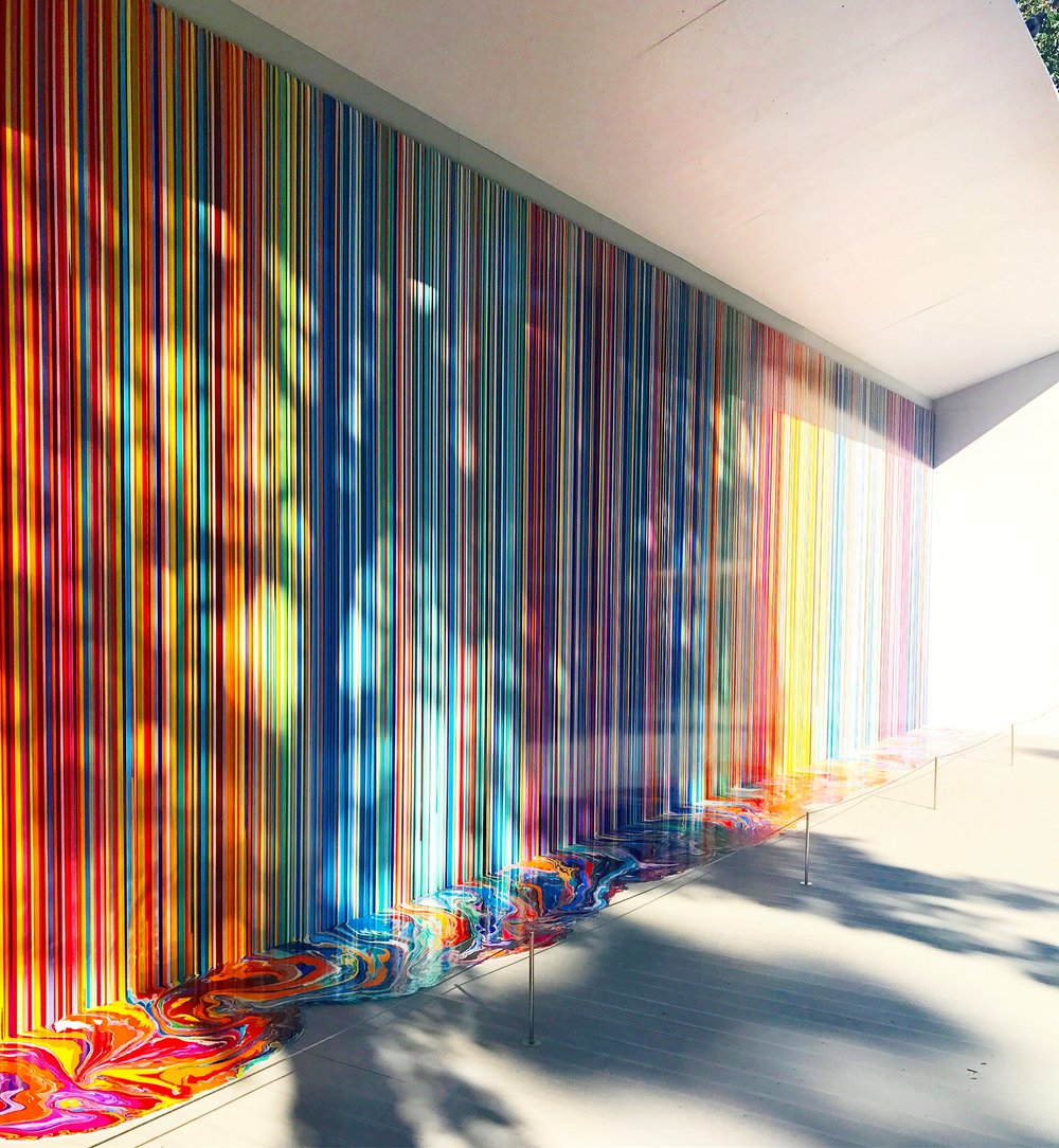 Ian Davenport's installation at Giardino