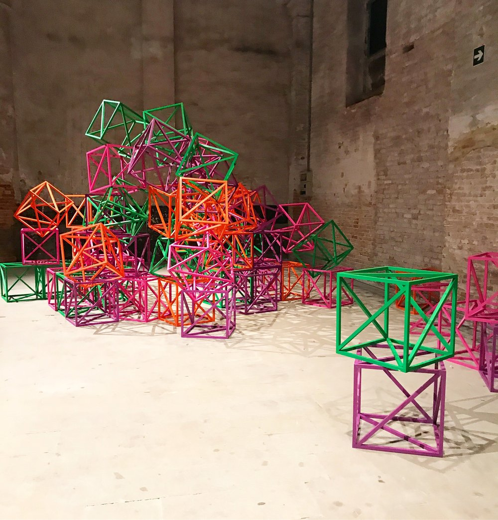 Rasheed Araeen's installation at Arsenale