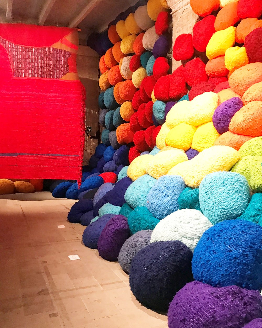 "Sheila Hicks's ""Escalade Beyond Chromatic Land"""