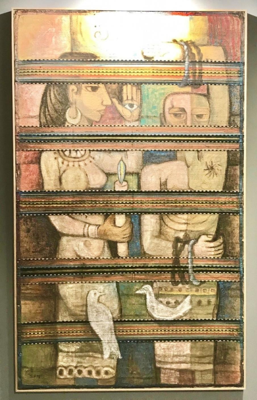 A paintig by Samir Raffi at Art Dubai Modern