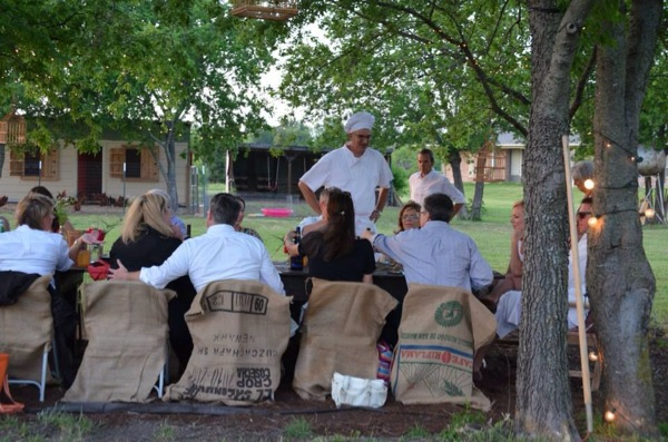 Farm to table dinner in McKinney Texas
