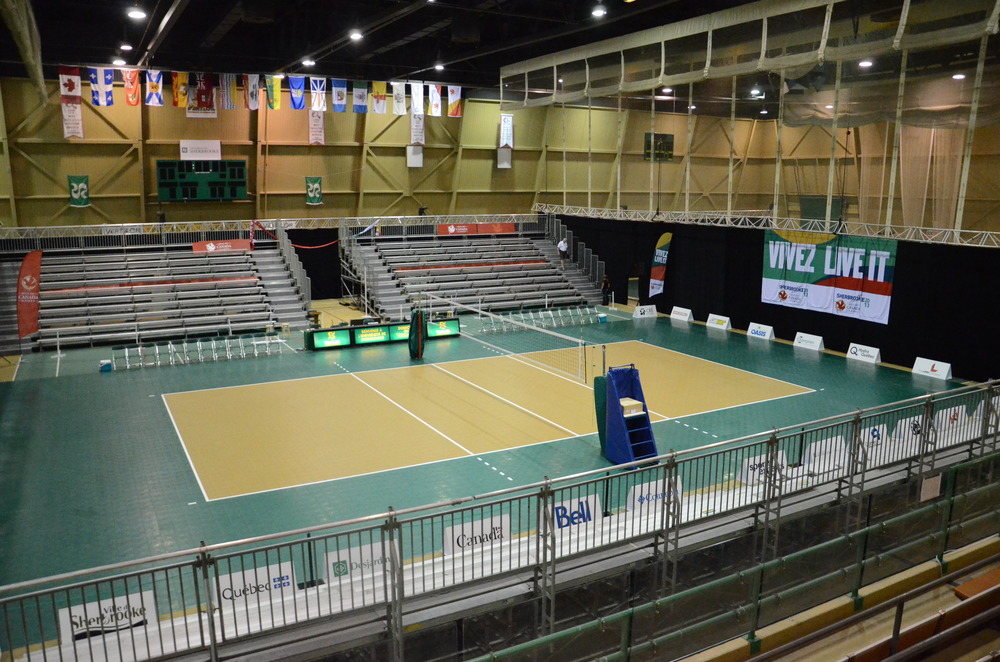 Center court at the Canada Games at l'Université de Sherbrooke