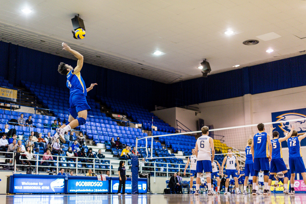 Could the days of UBC men's volleyball be numbered?  Photo: The Ubyssey
