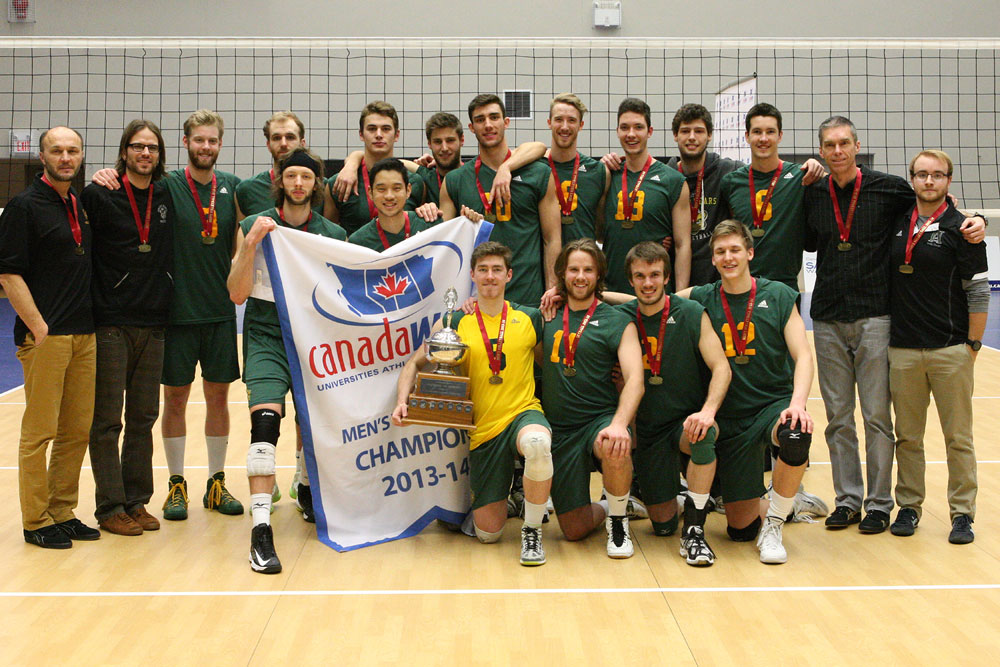 The University of Alberta Golden Bears upset Trinity Western in the Canada West final and have been named the top seed for the CIS men's volleyball championships.