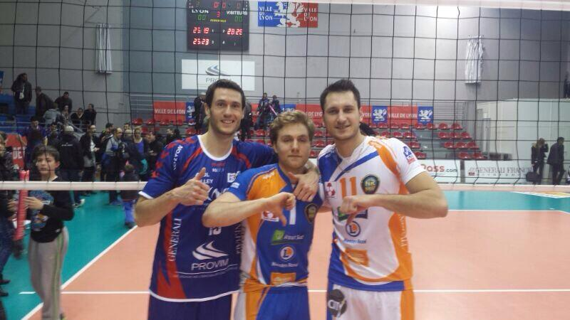 Toontje, Blair and Jason after their match in France.  Photo:  @blizzbann
