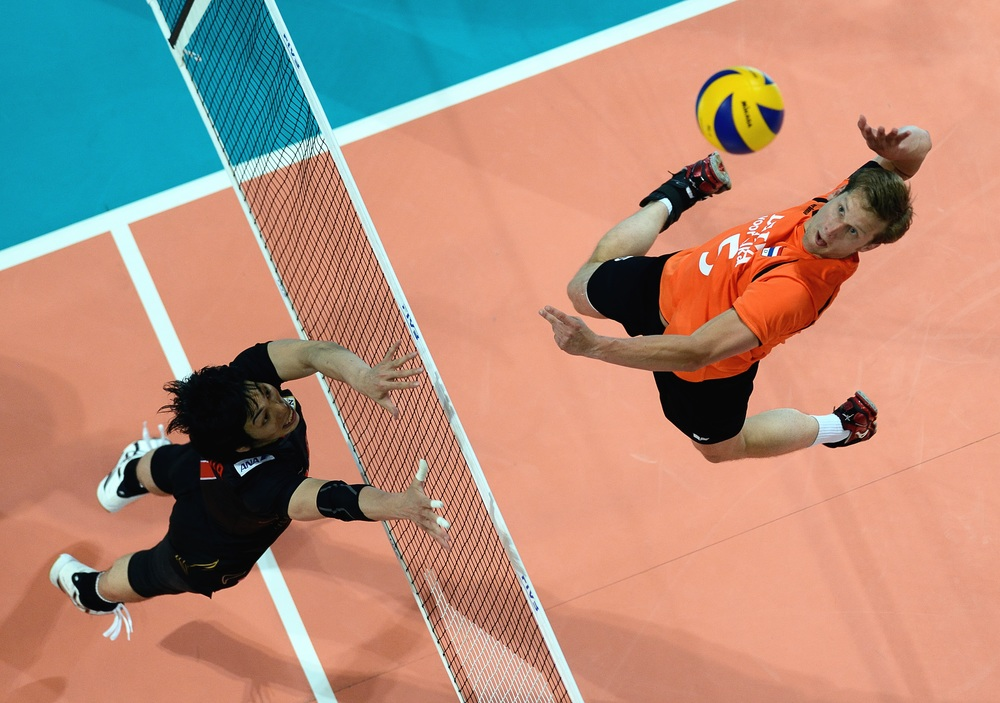 Jelte Mann of The Netherlands during last year's FIVB World League.  Photo: FIVB
